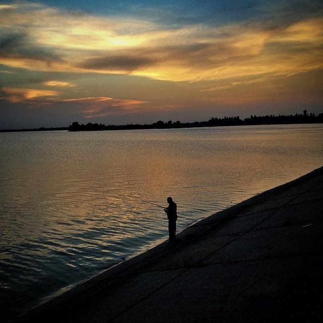 Lacul Morii la apus