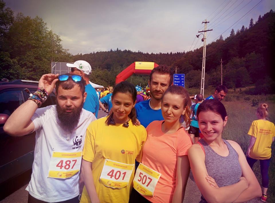Echipa Bloggerilor la Maratonul DHL - inainte de start