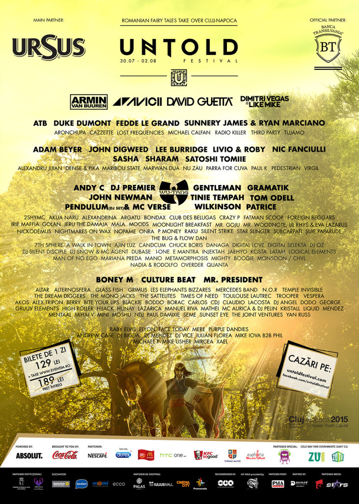Untold Festival 2015 - program complet
